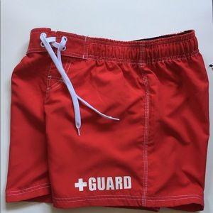 Blarix Swimwear Guard Red shorts Sz S NWOT